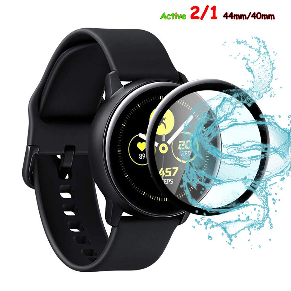 Glass For Samsung Galaxy Watch Active 2 44mm 40mm/46mm/42m Gear S3 Frontier/S2/Sport 3D HD Full Screen Protector Film(not Glass)