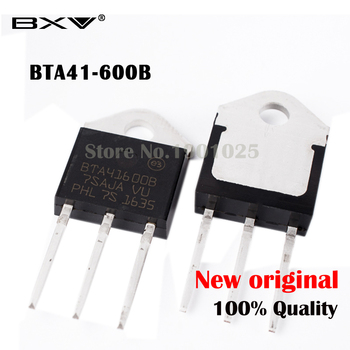 5PCS BTA41-600B BTA41-600 Triac 600V 40A Free shiping BTA41600B BTA41600 BTA41 TO-3P 40A IC
