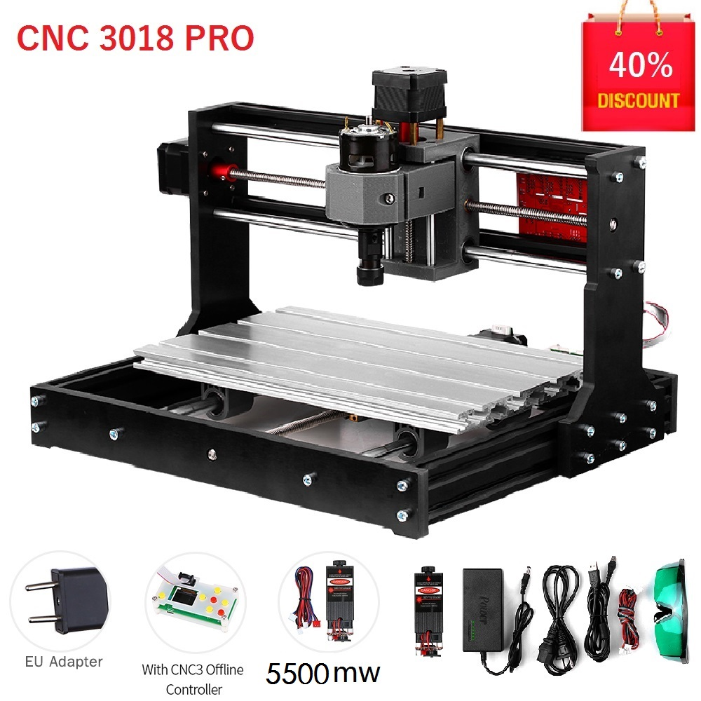 Kkmoon 3018 pro máquina de gravura do laser grbl er11control cnc máquina de gravura roteador madeira com controlador off-line haste extensão