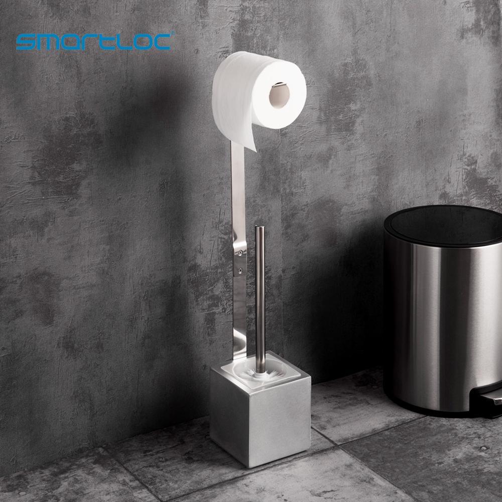 Smartloc  Large Stand Toilet Paper Holder Toilet Brush Bathroom Storage Container Bath Accessories Kitchen Organizer