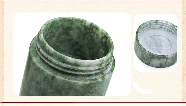 ENERGE SPRING Natural Lushan jade water cup double health care tea cup gift cup in Tumblers from Home Garden