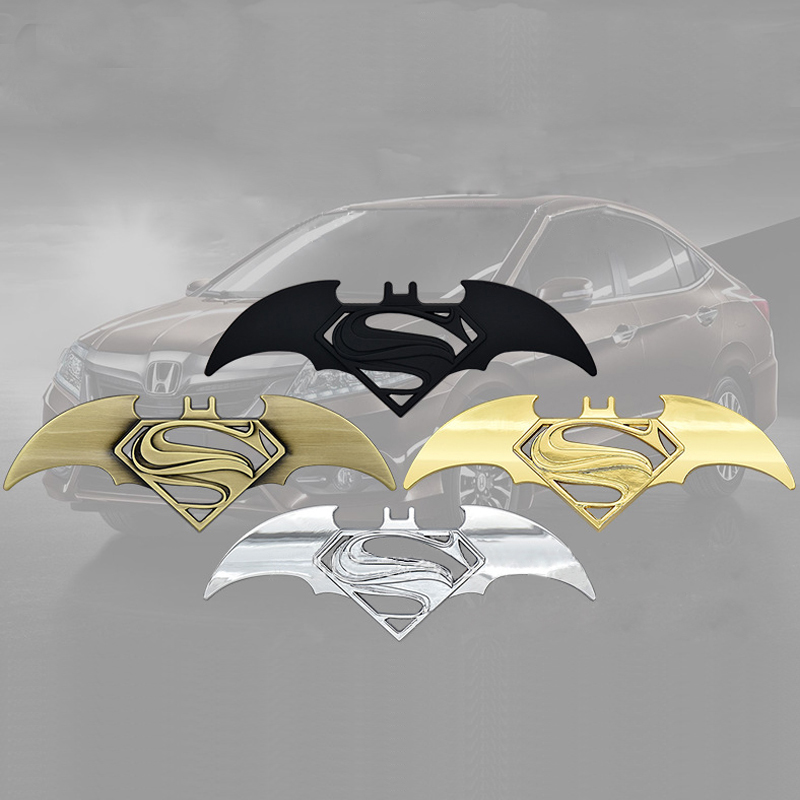 1pc 3D Batman Logo Zinc Metal Auto Car Motorcycle Logo Sticker Badge Tail Emblem