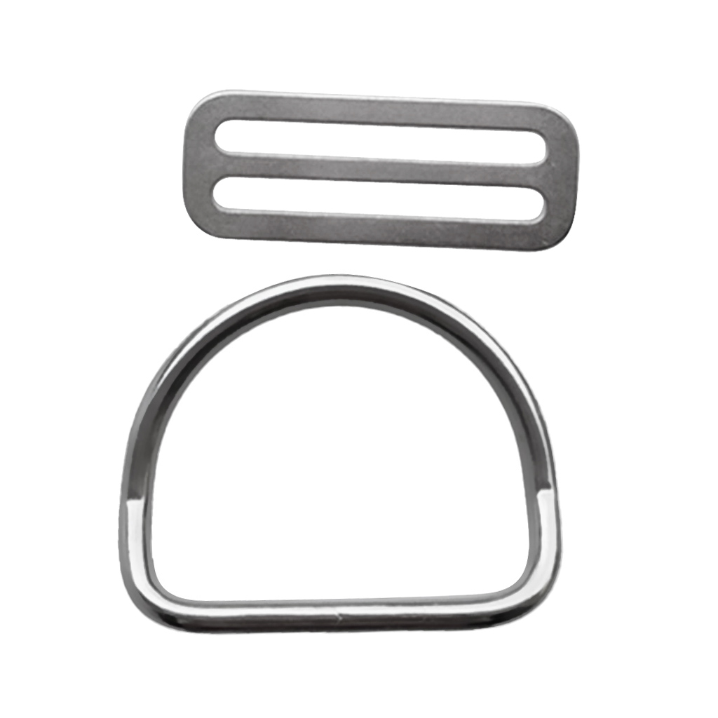 Premium Marine 316 Stainless Steel 5cm Webbing Weight Belt Keeper Retainer With D Ring For Scuba Diving Snorkeling