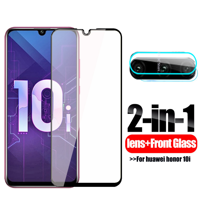 3D Tempered Glass On Honor 10i Screen Protector Camera Lens Protective Glass For Huawei Honor 10i 10 I Honer 10i 6.2