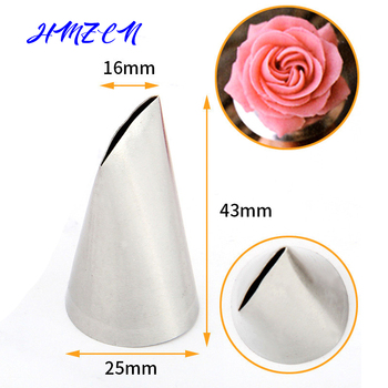 1PCS #124K Petal Rose Tulip Icing Piping Tip Nozzle Decorating Pastry Tips Stainless Steel Fondant Cake Decorating Tool Bakeware 2a icing tip nozzle cake decorating tips stainless steel icing fondant piping decorating nozzle tip baking