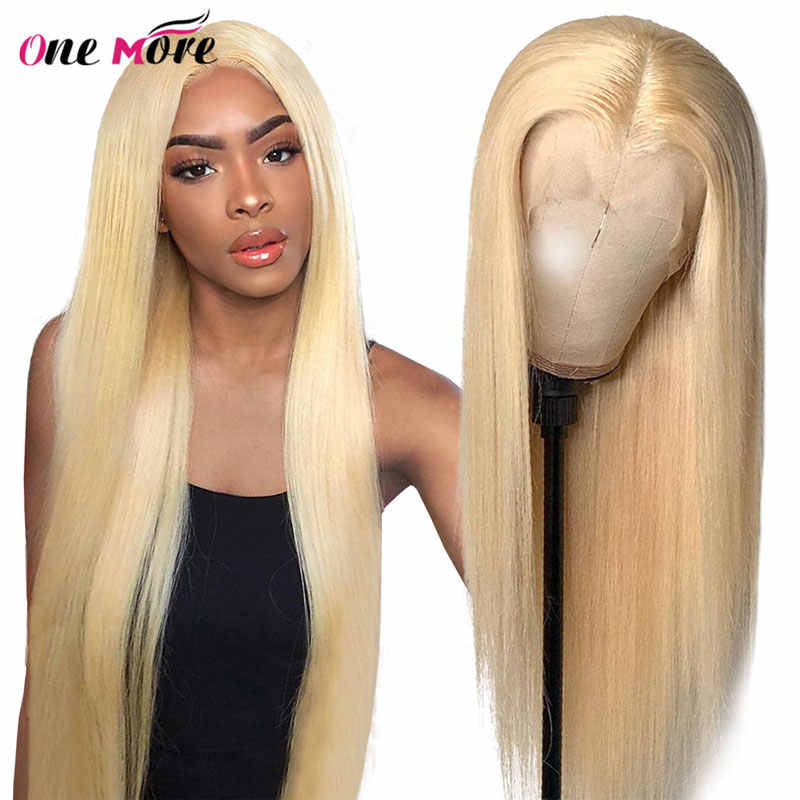 Perruque Lace Frontal Wig naturelle brésilienne | Cheveux lisses, blond miel 613, Lace Front Transparent HD