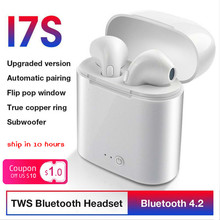 Quality Factory Sale I7s Tws Wireless Bluetooth Earphone 4.2 Earbuds With Charging Case Box True Stereo Headset For All Smart