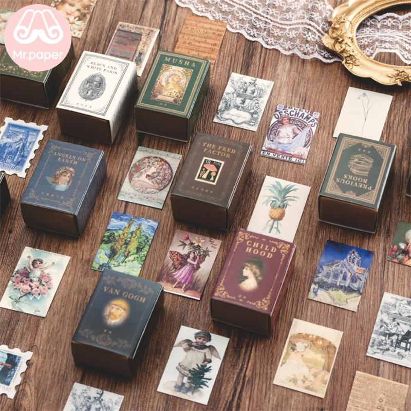 Mr.paper 100pcs/box Vintage Story Kraft Paper Scrapbooking/Card Making/Journaling Project DIY Diary Decoration LOMO Cards 1