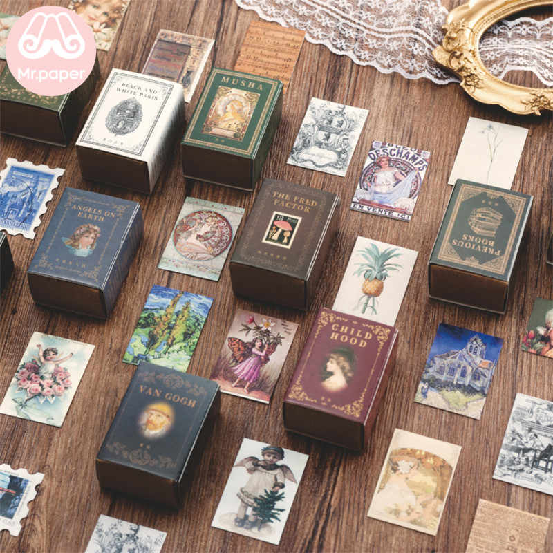 Mr. paper 100 unids/caja Vintage Story Kraft papel recortes/fabricación de tarjetas/proyecto de diario DIY diario decoración tarjetas LOMO
