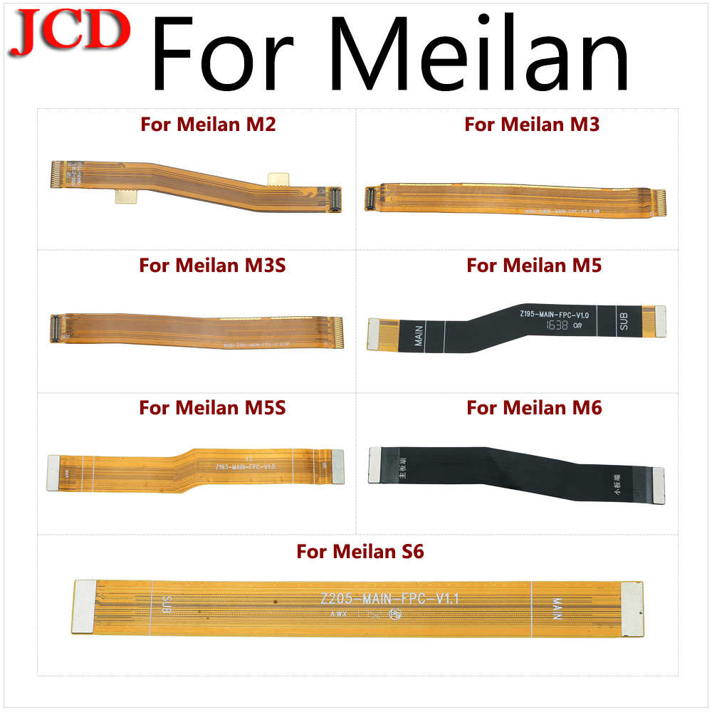JCD новый основной платы разъём материнской flex кабель для Meizu Meilan M2 M3 M3s M5 M5s M6 S6