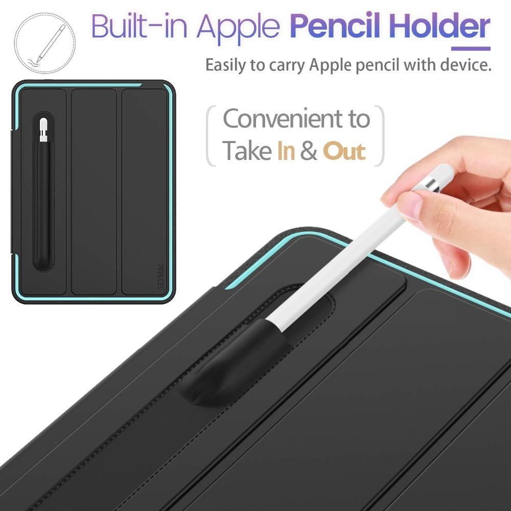 Heavy Rugged Generation Auto Case with iPad Case Wake/Sleep Duty Flip For 7th Protective
