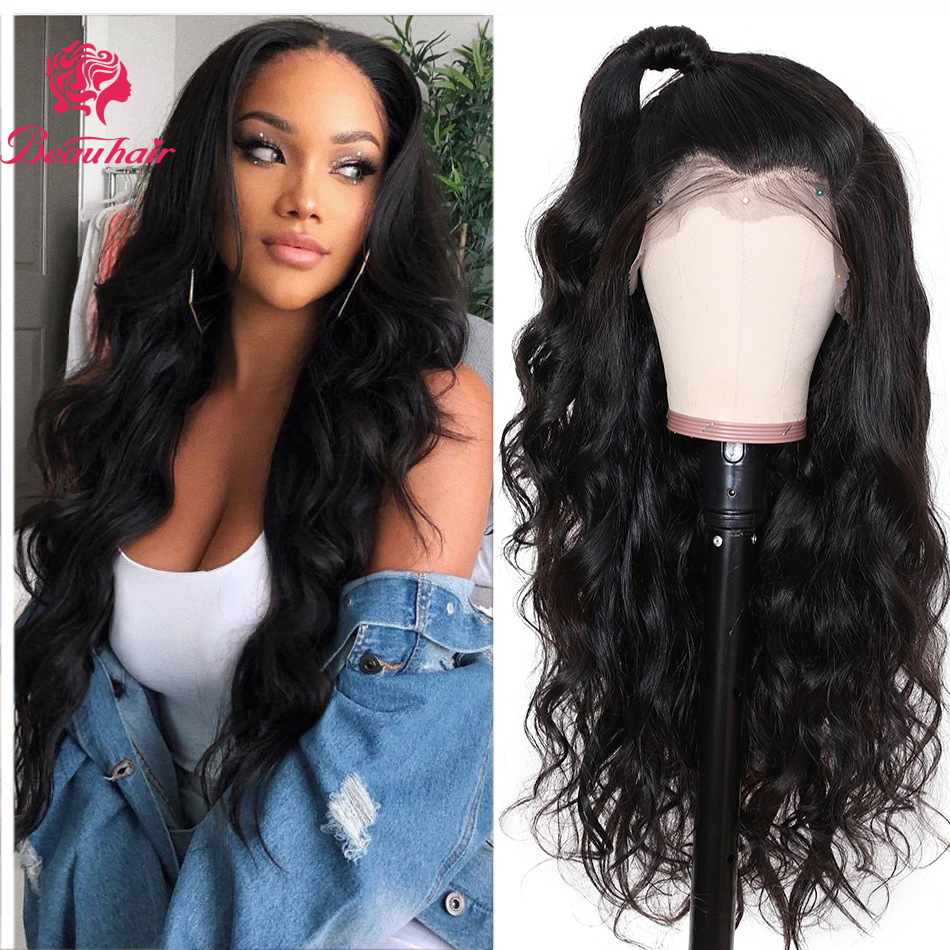 360 Lace Frontal Wig Brazilian Body Wave Lace Front Wig 360 Lace Frontal Wigs Pre-plucked With Baby Hair Remy Lace Wigs Beauhair