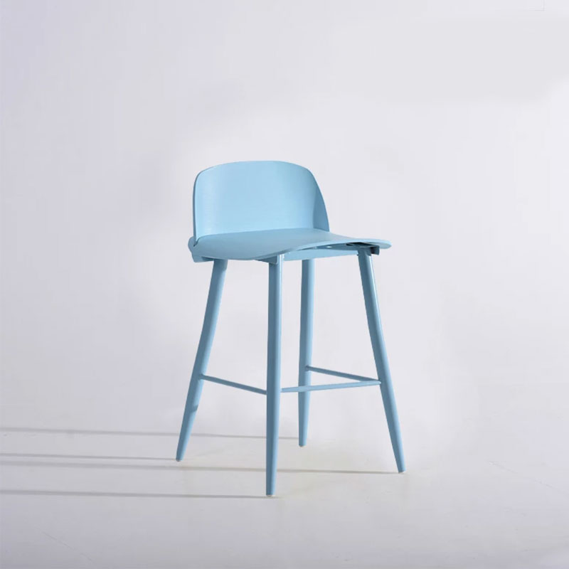 Nordic High Feet Bar Chair Fashion Simple Creative Bookstore Coffee Shop Home Backrest Leisure Chair