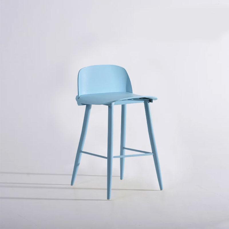 Nordic High Feet Bar Chair Fashion Simple Creative Bookstore Coffee Shop Home Backrest Leisure Chair