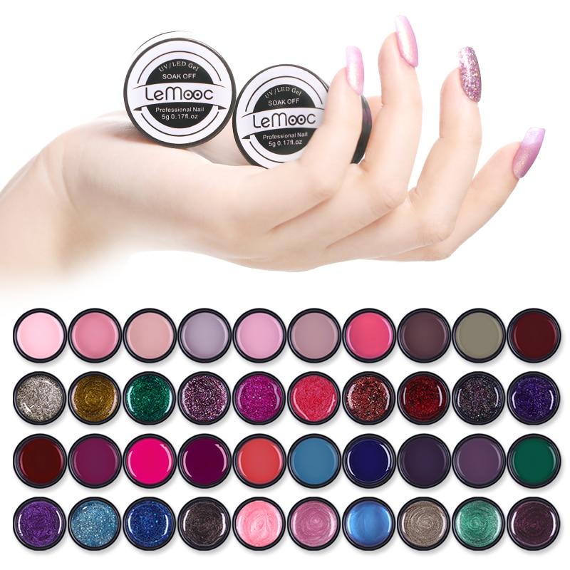 LEMOOC 180 Color 5ml Painting Gel Nail Art Design Manicure Soak Off Enamel Gel Polish UV Gel Nail Polish Lacquer Varnish in Nail Gel from Beauty Health