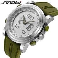 SINOBI Sport Horloges Mannen Vrouwen Dual Display Analoge Digitale LED Elektronische Quartz Horloges Mannen reloj Waterdichte Wekker
