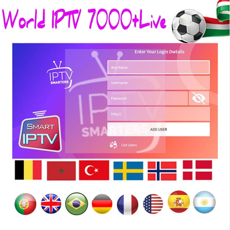 IPTV Subscription Hot Sale UK Italia Portugal French Spanish Turkish IPTV Account Code M3u Enigma Smart World TV For Mag Android