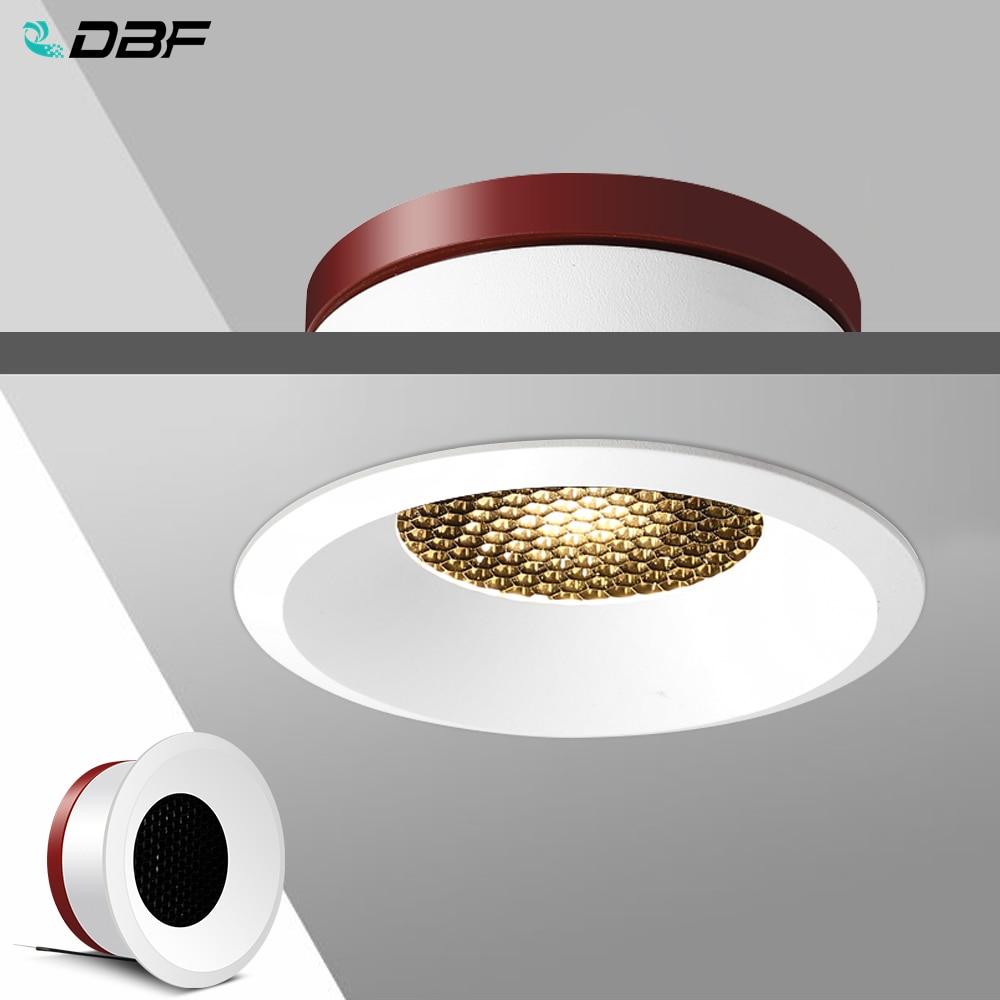 [DBF]2020 New Honeycomb Nest Anti Glare Lens COB Recessed Downlight 5W 7W 12W 15W Round LED Ceiling Spot Light Pic Background