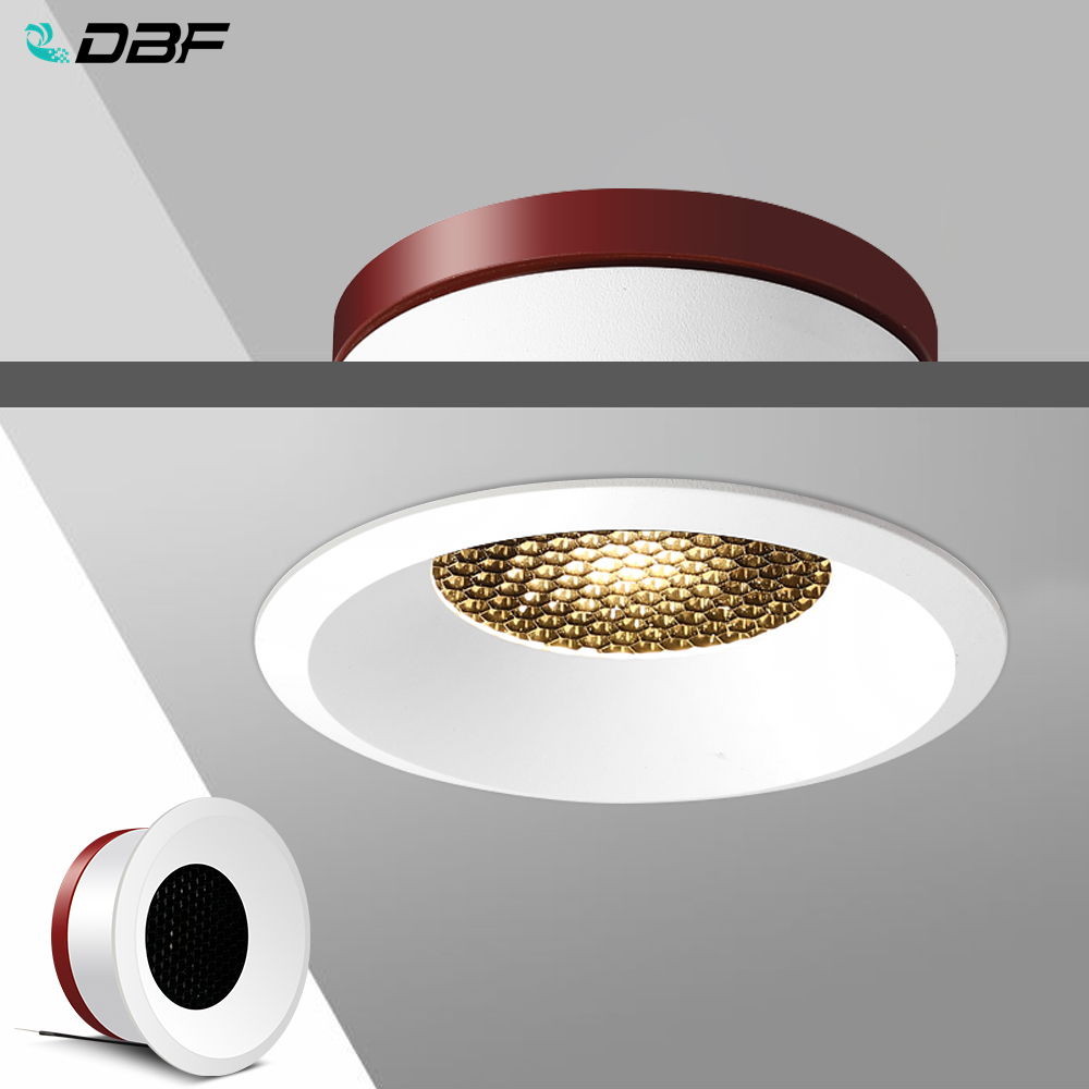 DBF 2020 New Honeycomb Nest Anti Glare Lens COB Recessed Downlight 5W 7W 12W 15W Round LED Ceiling Spot Light Pic Background
