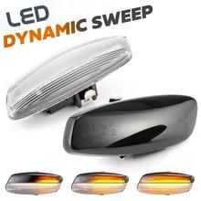 Dinamik LED yan işaretleyici ışık sinyal Blinker Citroen C4 Coupe Picasso C3 C5 X7 DS3 DS4 Peugeot 207 308 3008 5008 RCZ ortağı