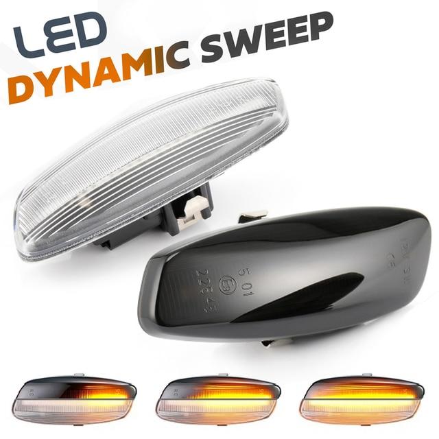 Intermitente de señal LED de posición lateral dinámico para Citroen C4 Coupe Picasso C3 C5 X7 DS3 DS4 Peugeot 207 308 3008 5008 RCZ Partner