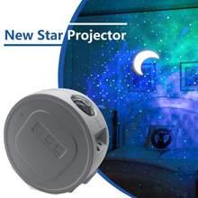 LED Ocean projektor gwiazda gwiazda noc projekcja światła mgławica głęboki sen Starlight 360 stopni obrót oświetlenie nocne lampy dla dziecka