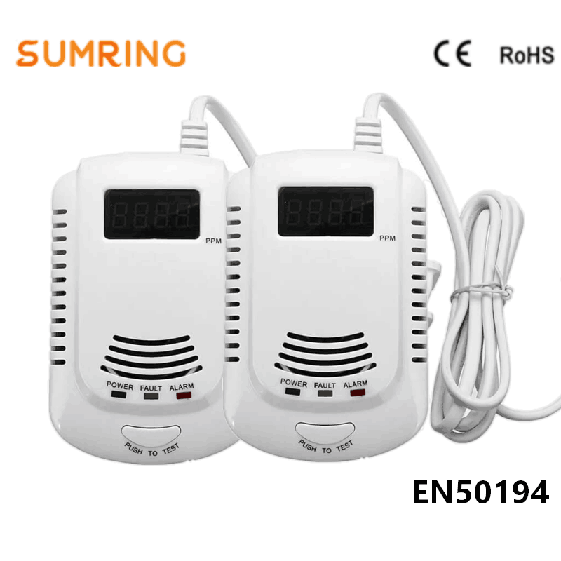Gas Leak SensorAlarm Detector Plug-in LPG With Talking Alarm And Digital LED Display And 9V Battery Back Up
