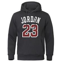 Осень зима мужские толстовки Jordan 23 мужские толстовки с принтом модная теплая уличная одежда мужские повседневные высококачественные мужские пуловеры