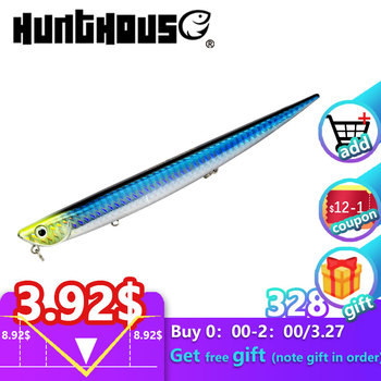 Hunthouse tonący ołówek Bay RUF MANIC FISH stickbait fishing lure długie rzucanie 99mm 18 5g sea bass woda morska twarda przynęta przynęty 507 tanie i dobre opinie hunt house River Ocean Beach Fishing stream Ocean Boat Fishing Lake Reservoir Pond LW507 Sztuczne przynęty 99mm 155mm 18 5g 31 5g