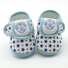 Baby Booties Newborn Shoes Infant Star Girls Boys Soft Sole Prewalker Warm Flats Shoes Crib Footwear Scarpe Bambino First Walker(China)