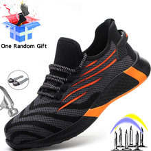 Male Shoes Work-Boots Puncture-Proof MJYTHF Steel Indestructible Men