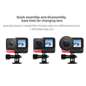Image 3 - Insta360 واحد R الإفراج السريع الإطار Vlog قفص بانورامية 4K لايكا كاميرا حماية الحال بالنسبة Insta360 واحد R كاميرات الملحقات