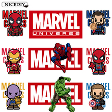 Nicediy Marvel Patches Iron on Transfers for Clothes Movie Heat Transfer Vinyl Sticker The Avengers Thermal Press Badge