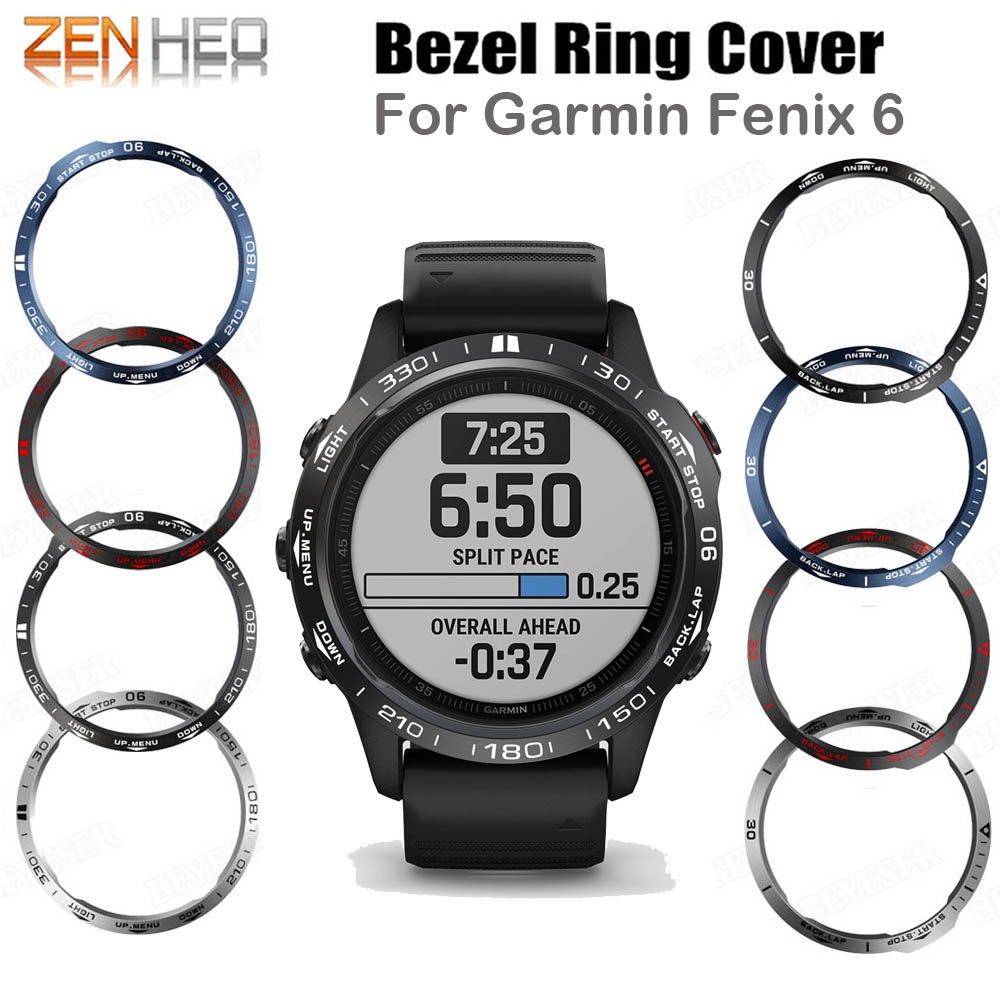 Ring Case Protection Cover Bezel For Garmin Fenix 6 Fenix 6 Pro 6 Sapphire Smart Bracelet Bezel Ring Anti Scratch Metal Cases