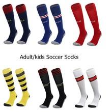 Профессиональные спортивные носки для футбола для взрослых и детей антибактериальные дышащие Компрессионные носки до колена для мужчин и женщин