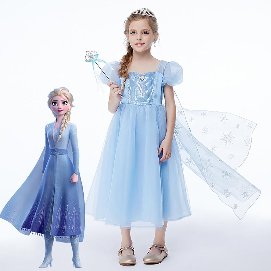 Elsa Halloween Costumes For Kids.Disney Frozen 2 Elsa Fancy Dress For Girls Cosplay Halloween Costume Kids Baby Dresses Princess Elsa Dress Up Clothing Aliexpress