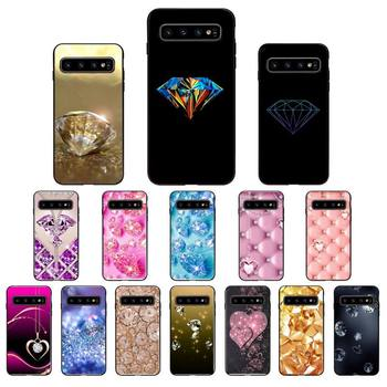 YNDFCNB Gold Bling Glitter Diamond Soft Phone Case for Samsung Galaxy S6 S6edge Plus S7 S7edge S8 S9 S10 Plus S20 image