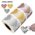 300 шт в форме сердца из розового золота Сотрите Стикеры s для Своя игра вечерние активности Стикеры прозрачный Стикеры s стикер для канцелярс...