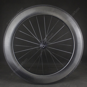 Image 5 - Time Trial Dimple Wheels Aerodynamic Front And Rear 80mm 2 Year Warranty Clincher/Tubeless Road Bike Carbon Wheel 700C Road Bike