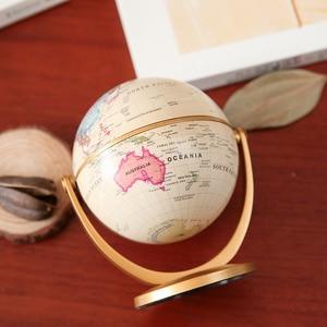Image 5 - 1pc回転ヴィンテージ地球儀スタンドearthで海マップボールオフィスデスクトップアンティークホームデコレーション地理教育モデル