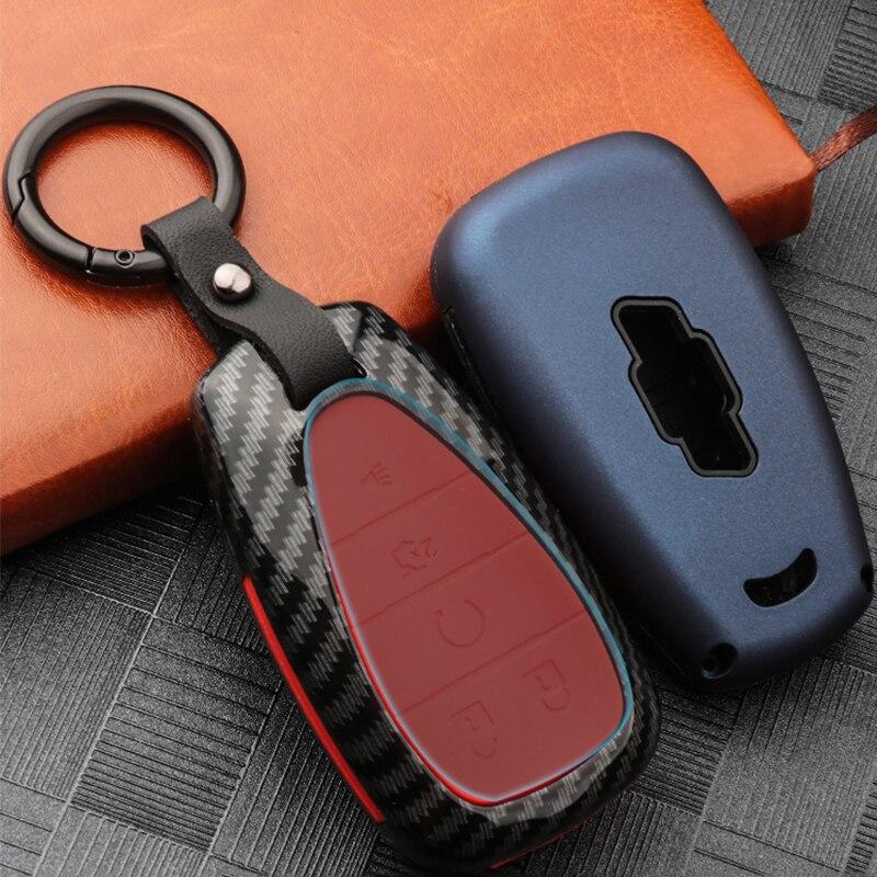 High Quality Mature Carbon Fiber Matte Car Key Case For chevrolet cruze spark camaro Volt Bolt Trax Malibu interior accessories