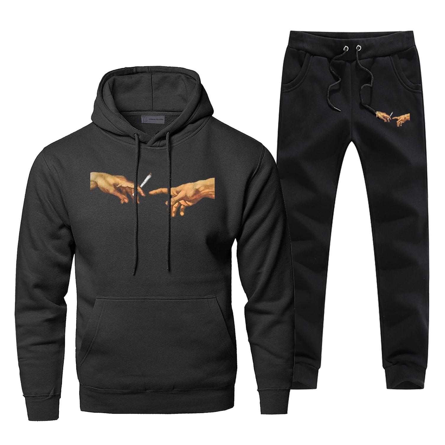 Michelangelo Hoodies Pants Set Men  Genesis Hoodie Sweatshirt Men Hiphop Hoodies Pollover 2Pcs Streetwear Male Funny Sweatshirts