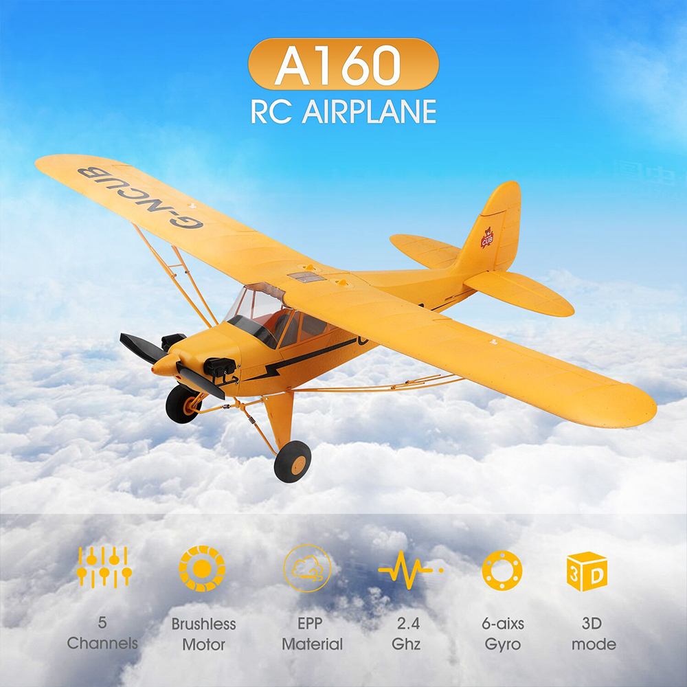 2020 New A160 EPP Glider Toy Brushless Motor 200M Remote Distance 3D 6G Model RC Drone 5 Channel 6 Axis Kids Gifts Smooth Flight