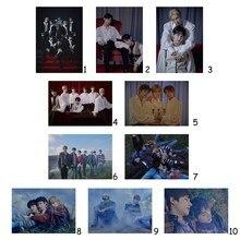 Постеры в стиле K-POP с надписью ENHYPEN, прозрачное изображение, украшение для спальни, домашнее искусство, брендовые настенные наклейки, украше...