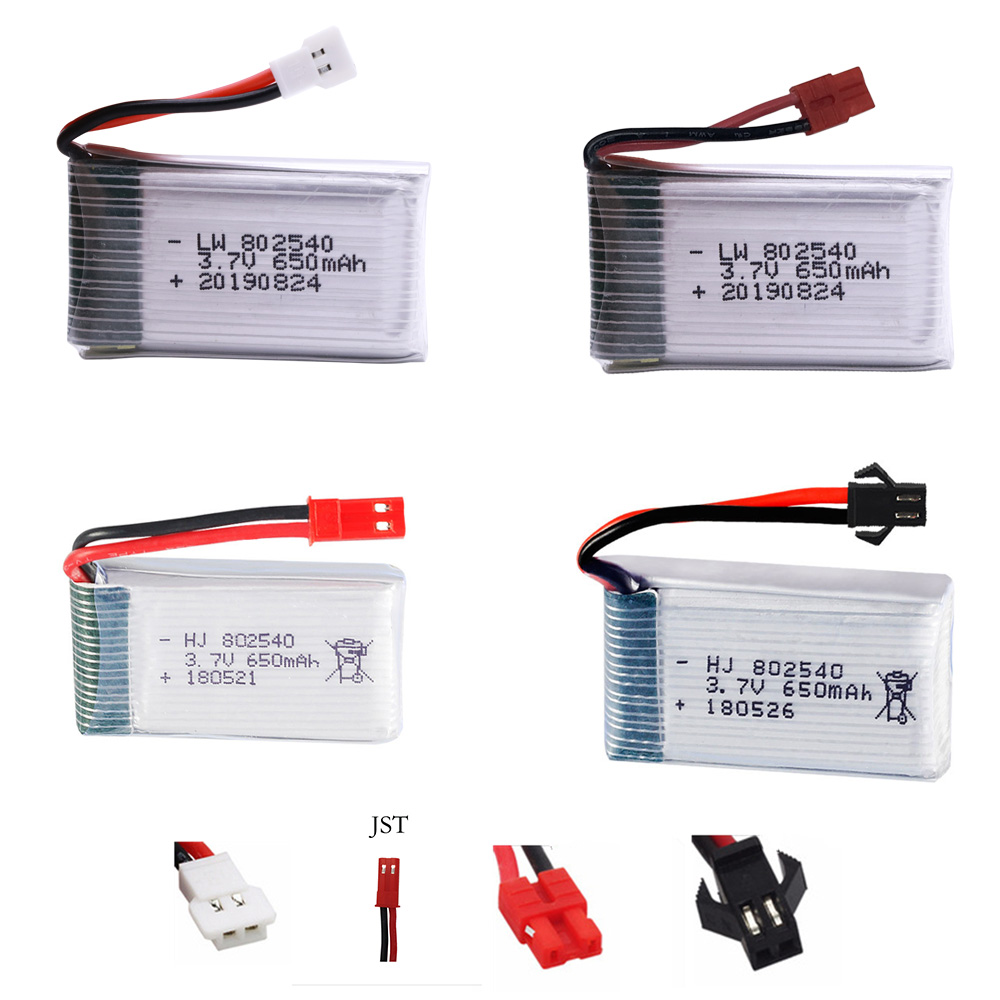 High Rate 3.7V 650mAH  Lipo Battery  For Syma X5C X5HC X5HW FY550 HJ818 HJ819 Quadrocopter RC Battery Accessories 3.7 V 802540