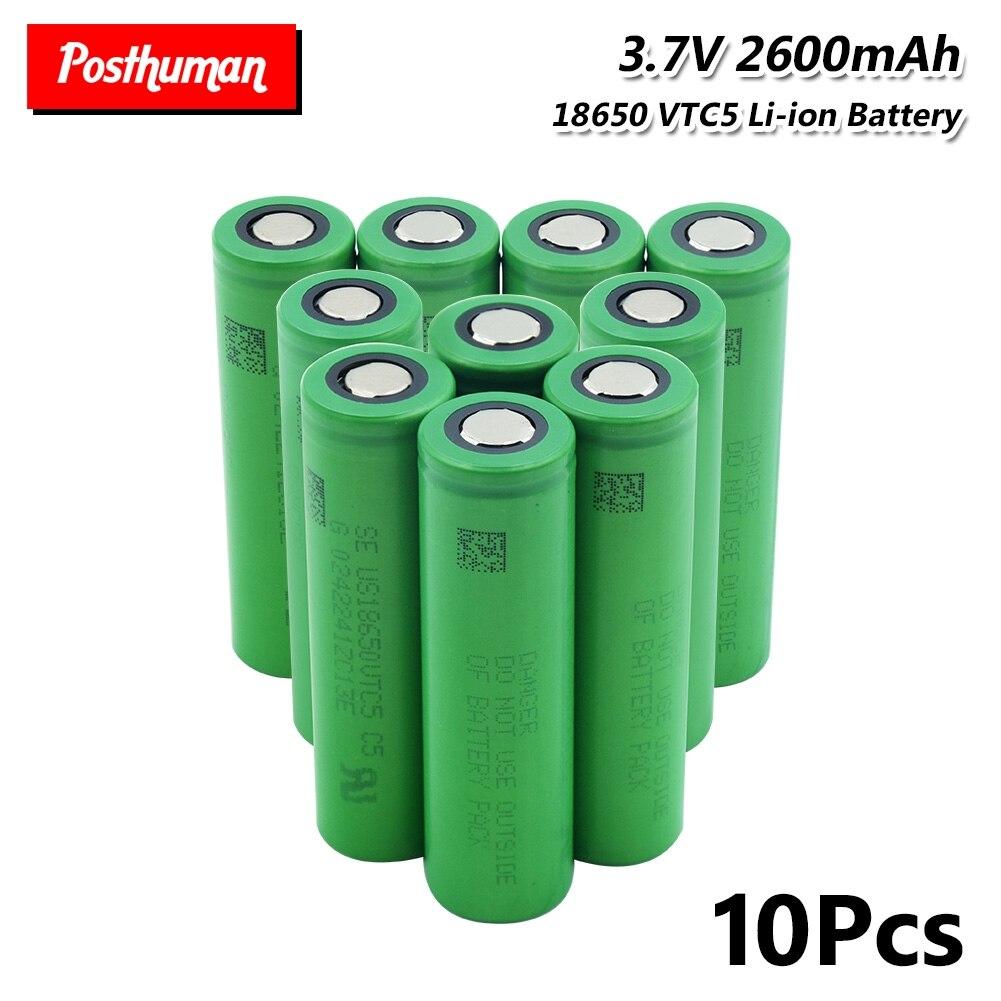 18650 lithium Li-po battery 2600mAh VTC5 30A High Drain 18650 Li-ion Lithium Rechargeable Battery For Flashlight batteries