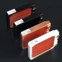 Ke ruiwo katyusha série 120mm radiador de água de cobre vermelho completo adequado para ventiladores 120mm