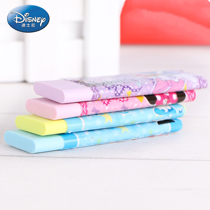 Disney Cartoon Chewing Gum Styling Rubber Mickey Minnie Cute Stationery Eraser Creative Modeling School Supplies Erasers For Kid