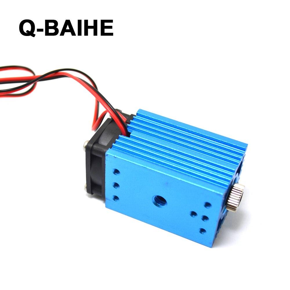 12V 488nm 60mW регулируемый синий свет точка сцены/линия/Крест лазерный модуль - 5