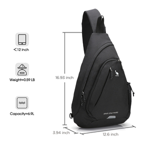 "Image 2 - OIWAS Womens Sling Shoulder Bag 18L Work Travel Fashion Corssbody Bag For 12"" Laptop Neutral Teens Students School University"